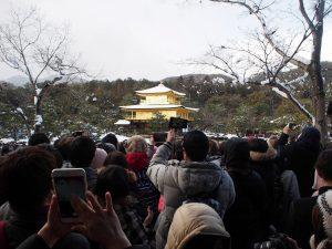 雪の金閣寺撮影場所