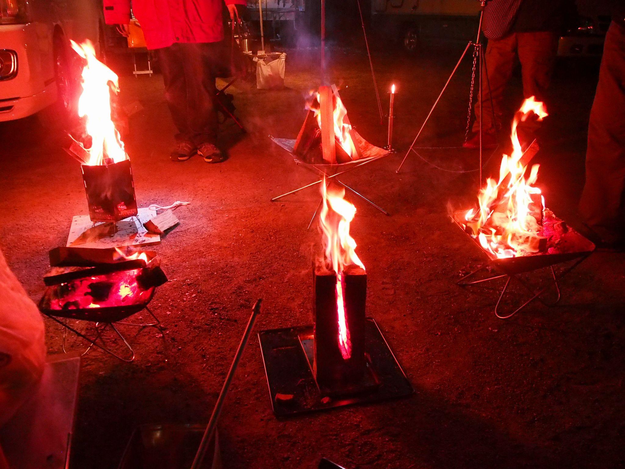 焚き火台とのコラボ