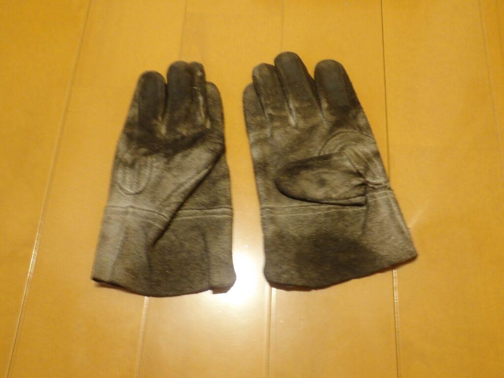 作業用 皮手袋 洗濯前