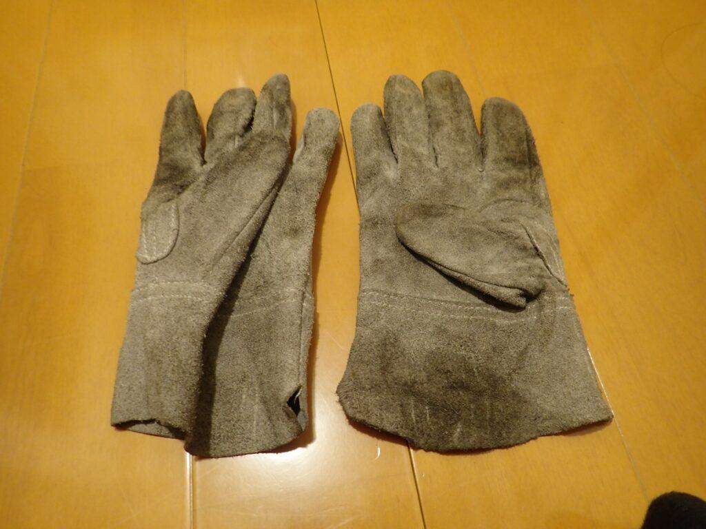 作業用 皮手袋 洗濯後