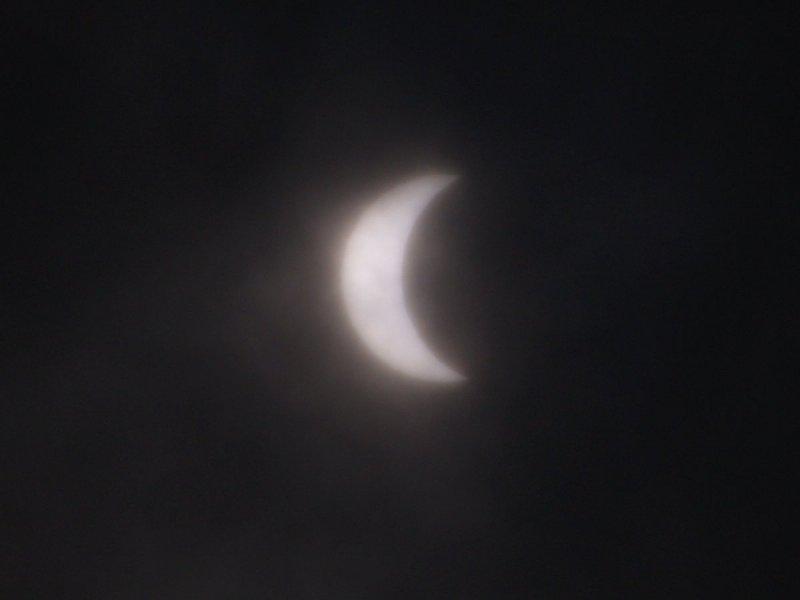 日食@嵐山PA