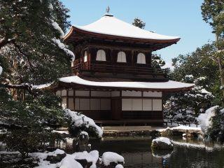 雪の銀閣寺3