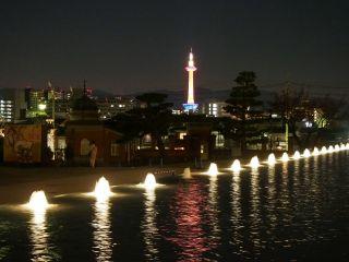 国立博物館から京都タワー夜景